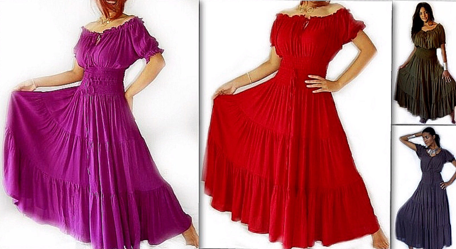 Marvelous Mexican Peasant Dresses | lotustraders clothing